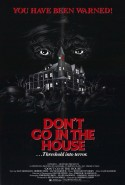POSTER - DON'T GO IN THE HOUSE
