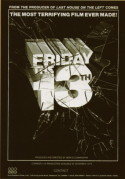 POSTER - FRIDAY THE 13TH (VARIETY ADVERTISEMENT)