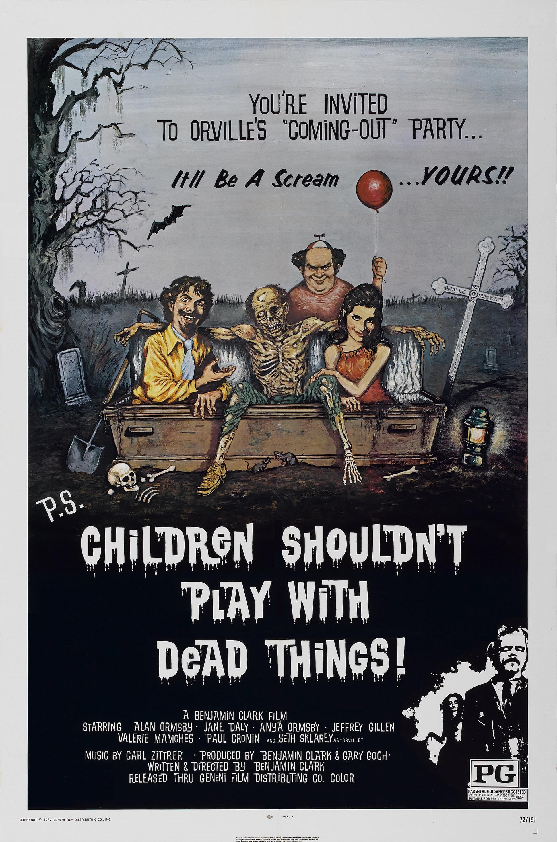 POSTER - CHILDREN SHOULDN'T PLAY WITH DEAD THINGS.JPG